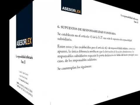 La responsabilidad tributaria (II)