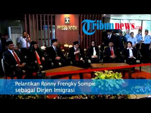 Pelantikan Ronny Frengky Sompie Sebagai Dirjen Imigrasi