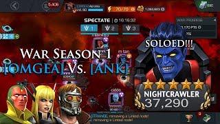 War Season 1: [OMGEA] Vs. [ANK] Unawakened NC Boss SOLO!!! | Marvel: Contest of Champions
