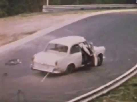 Nurburgring Nordschleife Crashes 1970 at Adenauer Forst. NEW ! More crashes