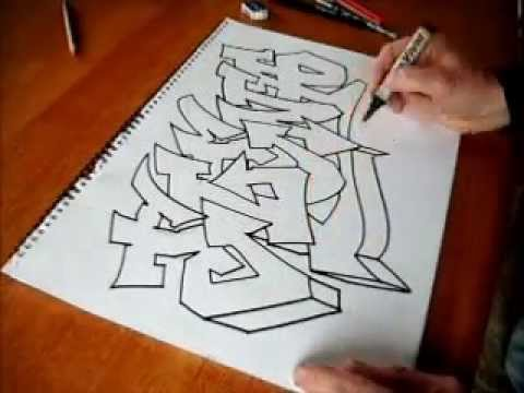 Easy Graffiti art with a chrome effect