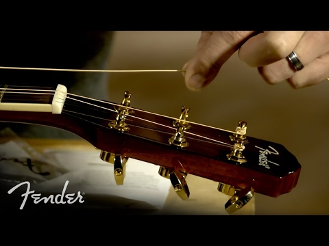 Video How to Change Your Acoustic Guitar Strings | Fender download in MP3, 3GP, MP4, WEBM, AVI, FLV January 2017