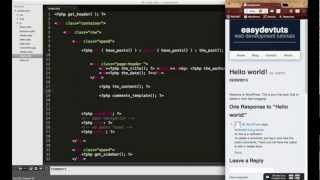 Wordpress Development Tutorials - Pt 10: HTML CSS To Theme - Twitter Bootstrap Comment Section