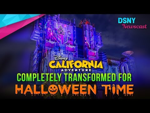 Halloween's Complete Transformation of Disney California Adventure - Disney News - 9/17/17 (видео)