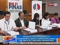NTG Kasunduan para sa presidential at vice presidential debates pinirmahan na waptubes