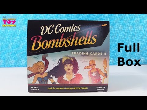 DC Comics Bombshells Trading Cards Series 2 Full Box Opening Review | PSToyReviews