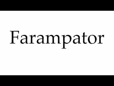 How to Pronounce Farampator