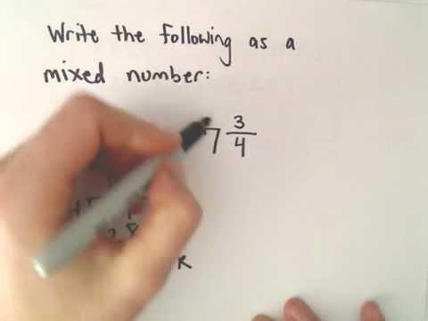 Unechte Brüche und gemischte Zahlen: Umschalten zwischen ihnen