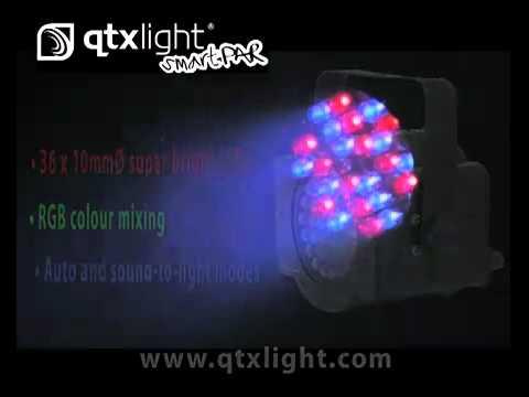 QTX Light SP36 / SP 36 LED PAR36 Disco Party Lighting Effect Light   www.whybuynew.co.uk