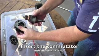 7. Starter Motor Brush Replacement