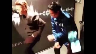151105 Update - TAEYANG & Kush dancing to Justin Bieber's Sorry @Teddy x Phiaton Grand Launch Event [10 Corso Como].