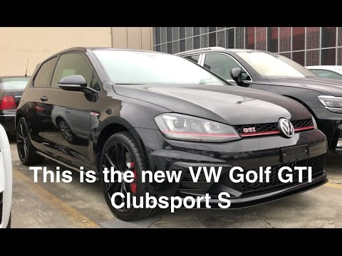This is the 2017 VW Golf GTI Clubsport S