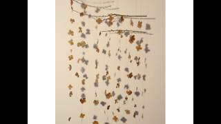 <h5>Being Led</h5><p>Local, fallen hydrangea petals (collected in autumn), local pussy willow branches, embruidery thread and local beeswax.</p>