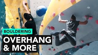 Bouldering at LAB: Finishing with a Looong overhang problem by  rockentry