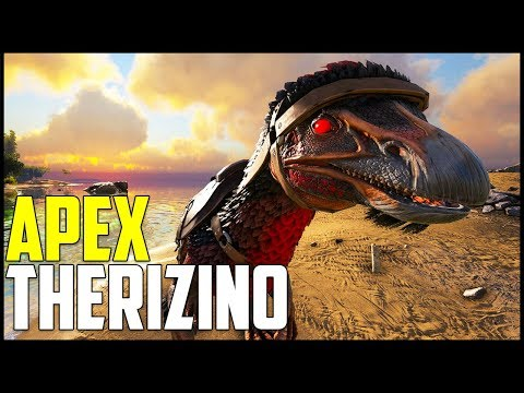 NEW DAMAGE MOUNT! - APEX THERIZINO! - Ark Survival Evolved Modded Ep 10 ( Ark Primal Fear & More ) (видео)