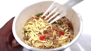 Snakinworld trying the indomie instant noodles beef flavoured . How to make instant noodles , noodle recipe beef noodles . noodles from Indonesia
