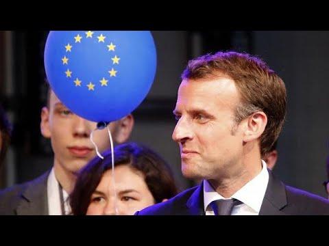 Der französische Präsident Macron wirbt für das Atomabk ...