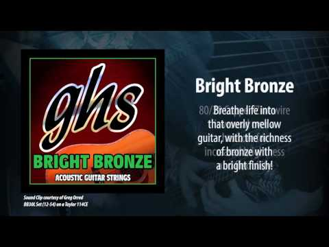 GHS Strings - Bright Bronze Acoustic Strings
