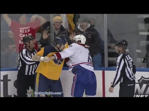 Murray - Douglas Murray vs John Scott from the Montreal Canadiens at Buffalo Sabres game on Nov 27, 2013. via http://www.hockeyfights.com.