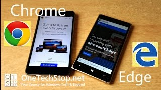 We compare Google's Chrome browser for Android against Microsoft Edge on Windows 10 Mobile.Chrome is running on the Xiaomi Redmi Note 3, running Android 5.0.1 while Edge is performing on the Lumia 830. Pluses and minuses of both browsers!Your comments and questions are always welcome, and you can visit our website: http://onetechstop.netFind us on Twitter: http://twitter.com/onetechstopAnd make sure you subscribe to catch our upcoming videos!