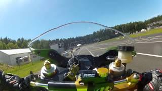 8. Kawasaki ZX6RR Ninja racing - crash