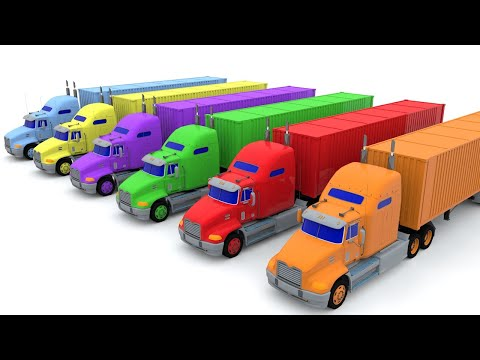 Colors for Children - Learn Colors - Trucks Colors for Toddlers - Colors with Trucks
