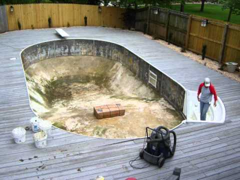 Automobile Damages Pool - We Replace Vinyl Swimming Pool Liner - Springfield Missouri MO