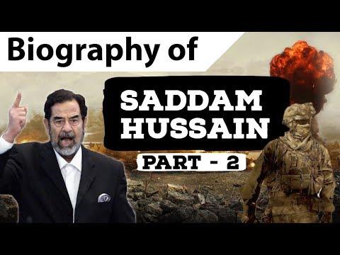 Biography of Saddam Hussein Part 2 - Fearsome ruler of Iraq - Invasion of Kuwait & Iran-Iraq War