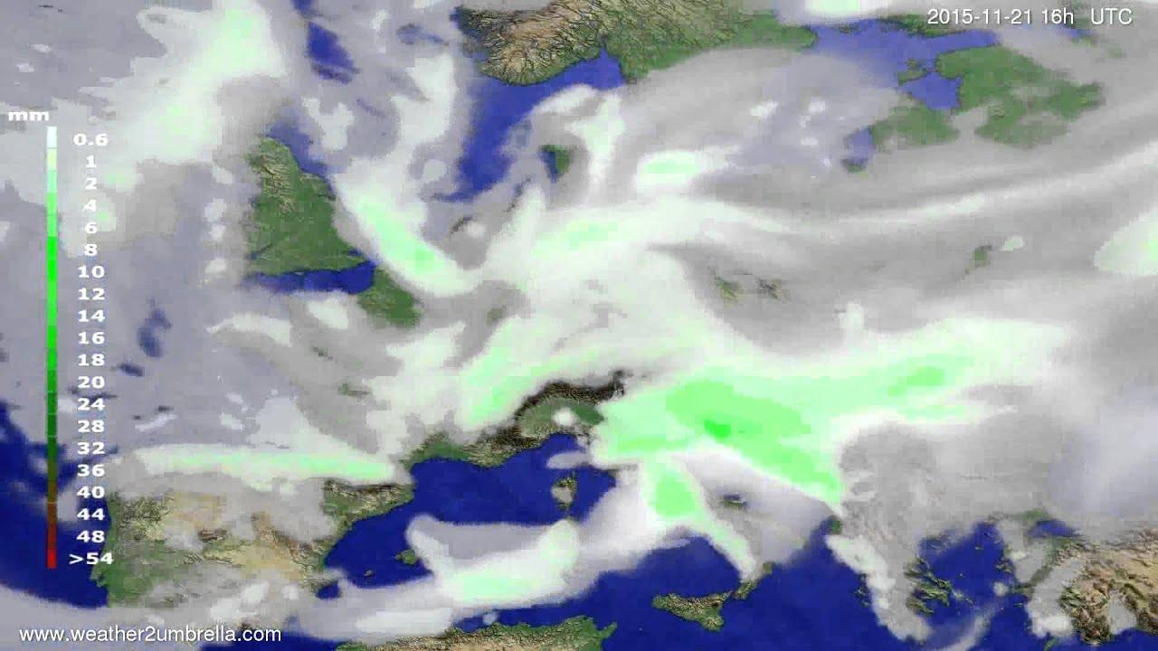 Precipitation forecast Europe 2015-11-18