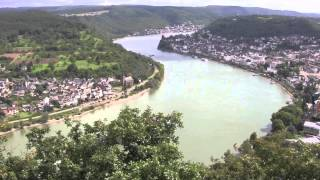 Boppard Germany  city photo : Sesselbahn (Chairlift) up Gedeonseck & Rhine Gorge Views, Boppard, Rhineland, Germany: 24th Aug 2014