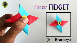 Video Ninja Star 'Fidget Spinner' - Handmade | DIY Tutorial by Paper Folds - 708 MP3, 3GP, MP4, WEBM, AVI, FLV Juli 2017