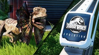 Monorail Construction and Dilo Destruction! - Jurassic World Evolution Gameplay