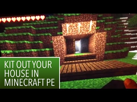 Minecraft PE: 3: How to kit out a basic house