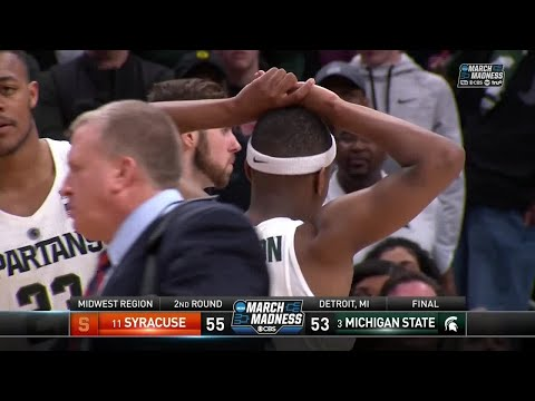 Syracuse takes down Michigan State to advance to the Sweet 16 (видео)