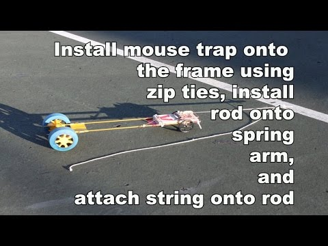 how to make a mousetrap vehicle go straight