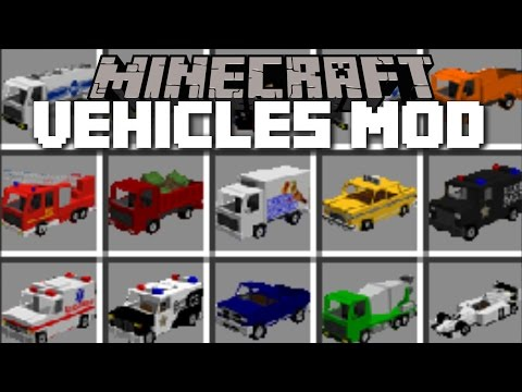 Minecraft EXTREME VEHICLES MOD / DRIVE AROUND IN SWAT CARS AND FIRE ENGINES!! Minecraft (видео)