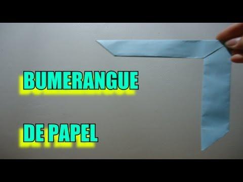 Como Fazer um Bumerangue de Papel!