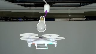 Is It Possible to Change a Lightbulb with a Drone? Sure, But Only if You're Willing to Lose a Few Lightbulbs