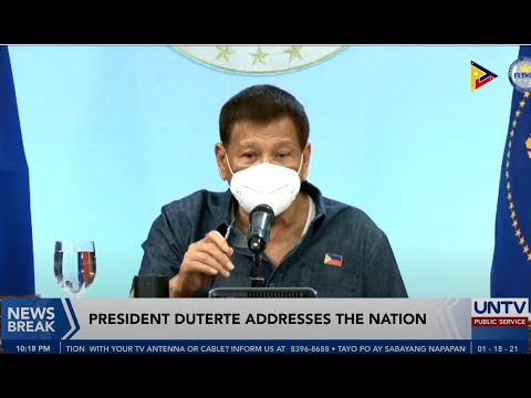 President Rodrigo Duterte Addresses the Nation | January 18, 2021