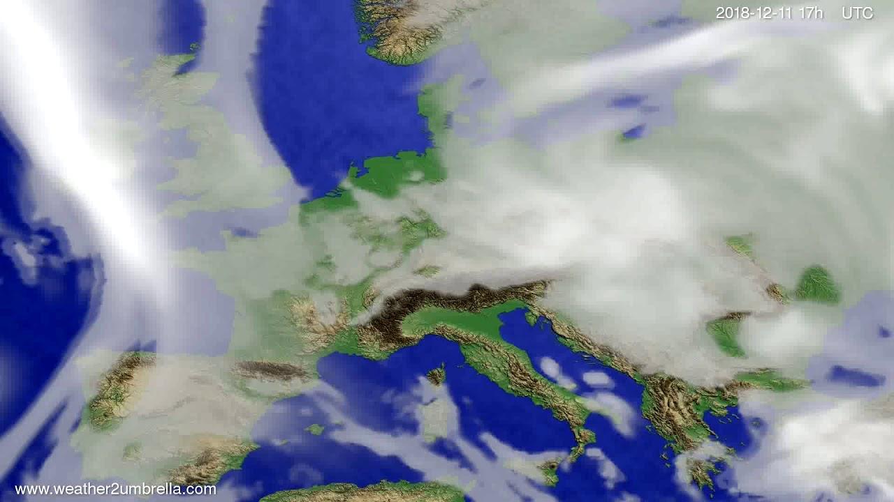 Cloud forecast Europe 2018-12-09