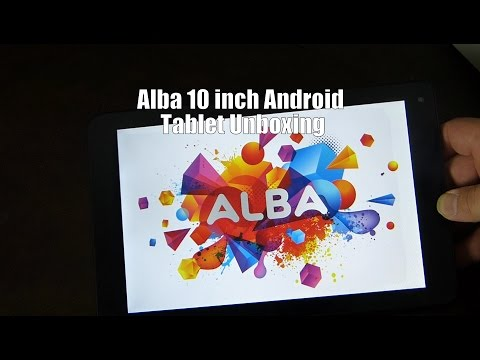 Alba 10 inch Android Tablet Unboxing