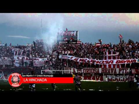 RpkdC - LA HINCHADA FILMADA DESDE CAMPO DE JUEGO. IMPRESIONANTE. SAN MARTIN 1-1 UNION ACONQUIJA - La Banda del Camion - San Martín de Tucumán