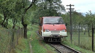 minivan on rails, Vaser Valley Railway, Romania
