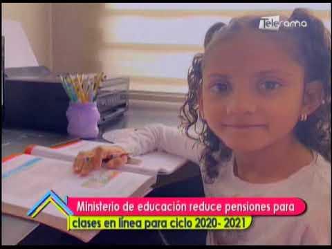Ministerio de educación reduce pensiones para clases en línea para ciclo 2020 - 2021