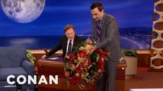 Jim Parsons Brings Conan A Holiday Gift - CONAN on TBS