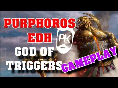 Purphoros EDH - God of the Triggers - MTG Gameplay (видео)