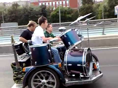 Russia: Motorcycle Sidecar Band