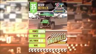 Knoxville Raceway 305 3rd place points finisher Kevin Hetrick