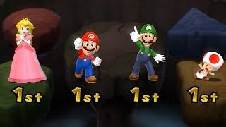 Mario Party 9 Boss Rush - Peach vs Mario vs Luigi vs Toad Master Difficulty| Cartoons Mee