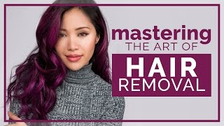 """Hi beauties! Sorry I've been away from this channel. Miss you all so much. I've been traveling overseas discovering the beauty of the world and gathering lots of inspiration that I can't wait to share when I get back.Today's episode of """"Mastering the Art Of"""" is all about hair removal - from epilators to waxing and electrolysis. I believe that you are beautiful no matter how much or how little hair you have on your body. But if you're looking to change it up from your current routine - we tried to cover all the options. Thank you to the always lovely BeetaBeauty for helping out with this video. Check out her channel and please show her some love!https://youtube.com/BEETABEAUTYTVhttps://twitter.com/beetabeautyhttps://instagram.com/beetabeautyThanks to LaserAway and Zap Electrolysis & Skincare for letting us film at their facilities! ( No they didn't pay me, I reached out to them because I heard that they were good )LaserAway http://laseraway.comInstagram: @Laser_AwayTwitter: https://twitter.com/laserawayYouTube: https://youtube.com/laserawayvidsZap Electrolysis & Skincarehttp://zapahair.comFacebook: https://facebook.com/ZapElectrolysisSkinCareYelp: http://yelp.com/biz/zap-electrolysis-and-skin-care-los-angelesTwitter: https://twitter.com/ZapElectrolysisPRODUCTS USED:Schick Intuition Razorhttp://bit.ly/29FhKy3EOS Shave Creamhttp://bit.ly/29BAoD9Venus Embrace Razorhttp://bit.ly/29u06O7Mach 3 Turbo Razorhttp://bit.ly/29GKvJKNair Hair Remover Moisturizing Face Creamhttp://bit.ly/29OGstHNair Sprays Away Nourishhttp://bit.ly/29zp0qBBraun Silk-épil 9 Epilatorhttp://bit.ly/29LdzR1Jolen Creme Bleach Regularhttp://bit.ly/29MWvM8Sugaring DIY1 cup granulated sugar1/4 cup lemon juice (About one lemon)Honey (optional if it's not as thick as you would like)Gigi Creme Waxhttp://bit.ly/29Nuy3YThe Honest Company Talc-Free Baby Powderhttp://bit.ly/29FiVNYTend Skin (For razor bumps and ingrown hairs)http://bit.ly/2a6Bbx8☾ My blog updated daily:  http://michellephan.com♫ My chill playlist"""